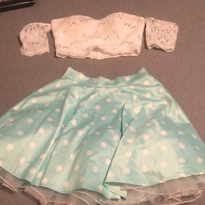 Dresses & Skirts - Two piece strapless dress